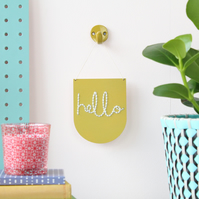 'hello' Mini Script Embroidery Board Kit
