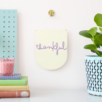 'thankful' Large Script Embroidery Board Kit