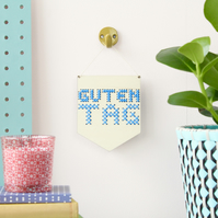 'Guten Tag' Mini Cross Embroidery Board Kit