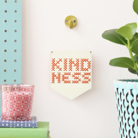'Kindness' Mini Cross Embroidery Board Kit
