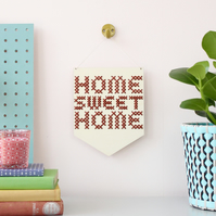 'Home Sweet Home' Large Cross Embroidery Board Kit