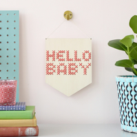 'Hello Baby' Large Cross Embroidery Board Kit