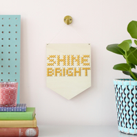 'Shine Bright' Large Cross Stitch Embroidery Board Kit