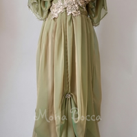 Edwardian Downton Abbey inspired dress handmade to order by Mona Bocca 6-16UK