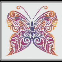 Psychedelic Butterfly Cross Stitch Chart PDF
