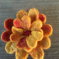 Pretty Felt Flower Brooch