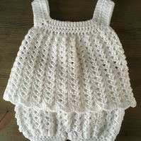 Cute Crocheted Dress and Bloomers