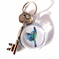 Blue tit Flapping Keyring
