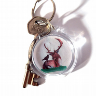 Stag & Crow Keyring