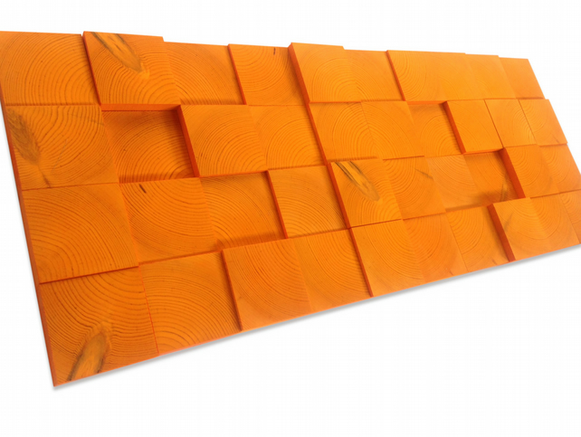 Wall Sculpture - Tinged with Tangerine