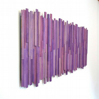 Wall Sculpture - Pinkly n Purpley
