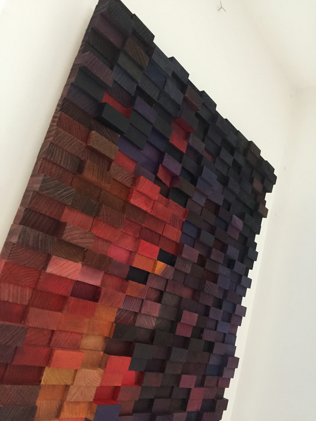 Purple Brain, a Wall Sculpture