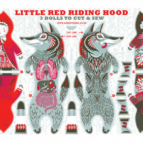 Little Red Riding Hood Tea Towel or Cloth Kit