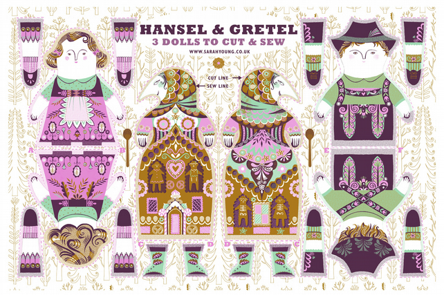 Hansel and Gretel- Tea Towel or Cloth Kit