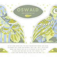Oswald the Owl Tea Towel