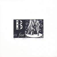 B is for Bonfire - Alphabet Silkscreen Print