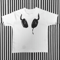 DJ Baby T-Shirt, New White Cotton Baby Tee, Baby Top, Sizes Newborn to 12 Months