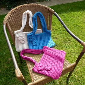 Hand made crochet shoulder bag or tote. Suitable for ipad or tablet too.