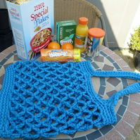 Hand made crochet shopping bag