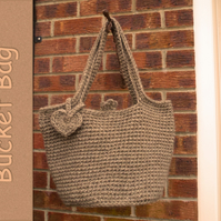 Crochet bucket bag. Practical and stylish. Unique design using  Alpaca wool.