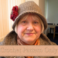 Pattern for Crochet Cloche hat