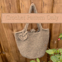 Pattern for Crochet Bucket Bag
