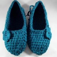 Ladies Handmade Chunky Crochet Carpet Slipper