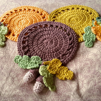 Custom made crochet Autumn Themed Doily-Choice of three colourways