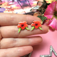 Hibiscus Earring Studs