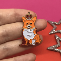 Royal Corgi Soft Enamel Pin
