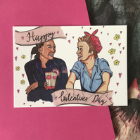 Galentines Day Postcard Parks and Recreation