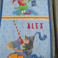Personalised Boys' Room Tidy -Knight and Jester