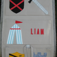 Personalised Boys' Room Tidy -  Knights and shields