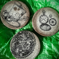 Steampunk coaster plaque