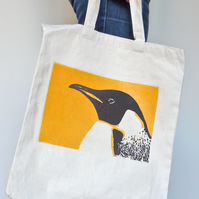 Penguin Print Shopping Bag