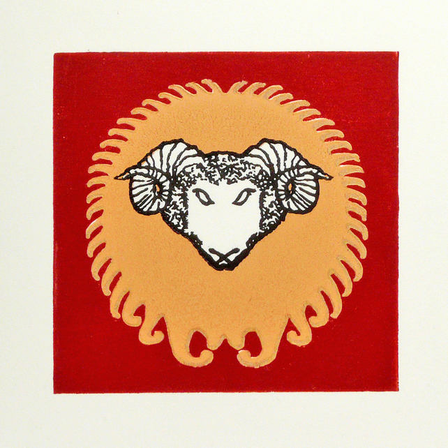 Golden Fleece Linocut
