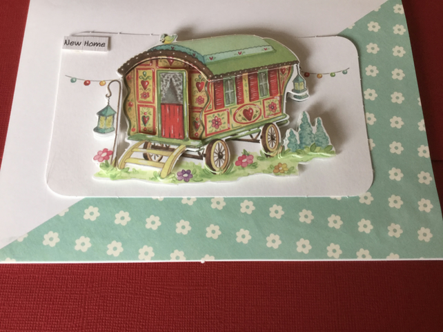 Decoupage 'New Home' card JM001