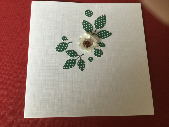 Handmade flower card JM025