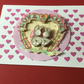 Handmade decoupage 'love ride' card JM033