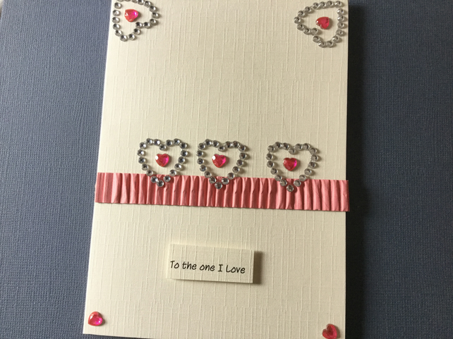 Handmade 'to the one i love' card JM007