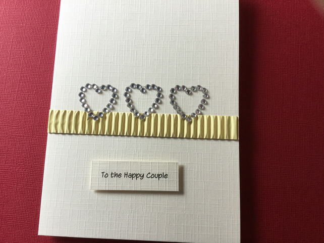 Handmade happy couple card JM041