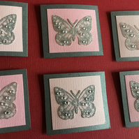 CC039 Butterfly card toppers