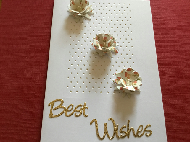 Best wishes card JM346