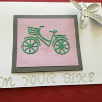 CC104 Bicycle leaving card