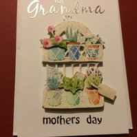 Decoupage Grandma Mother's Day card JM348
