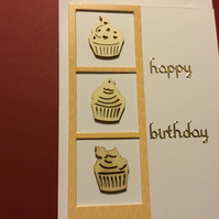 Cupcake birthday card JM355