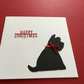 Scottie dog Christmas card Jm390