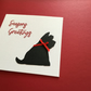 Scottie dog Christmas card JM392