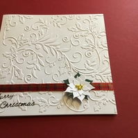 Beautiful poinsettia Christmas card
