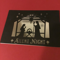 Silent Night Christmas Card